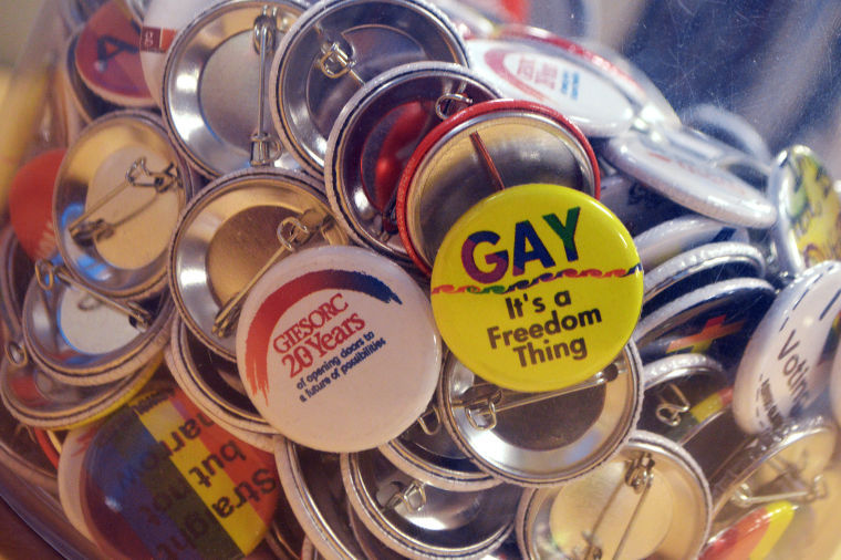 button of gay: it's a freedom thing